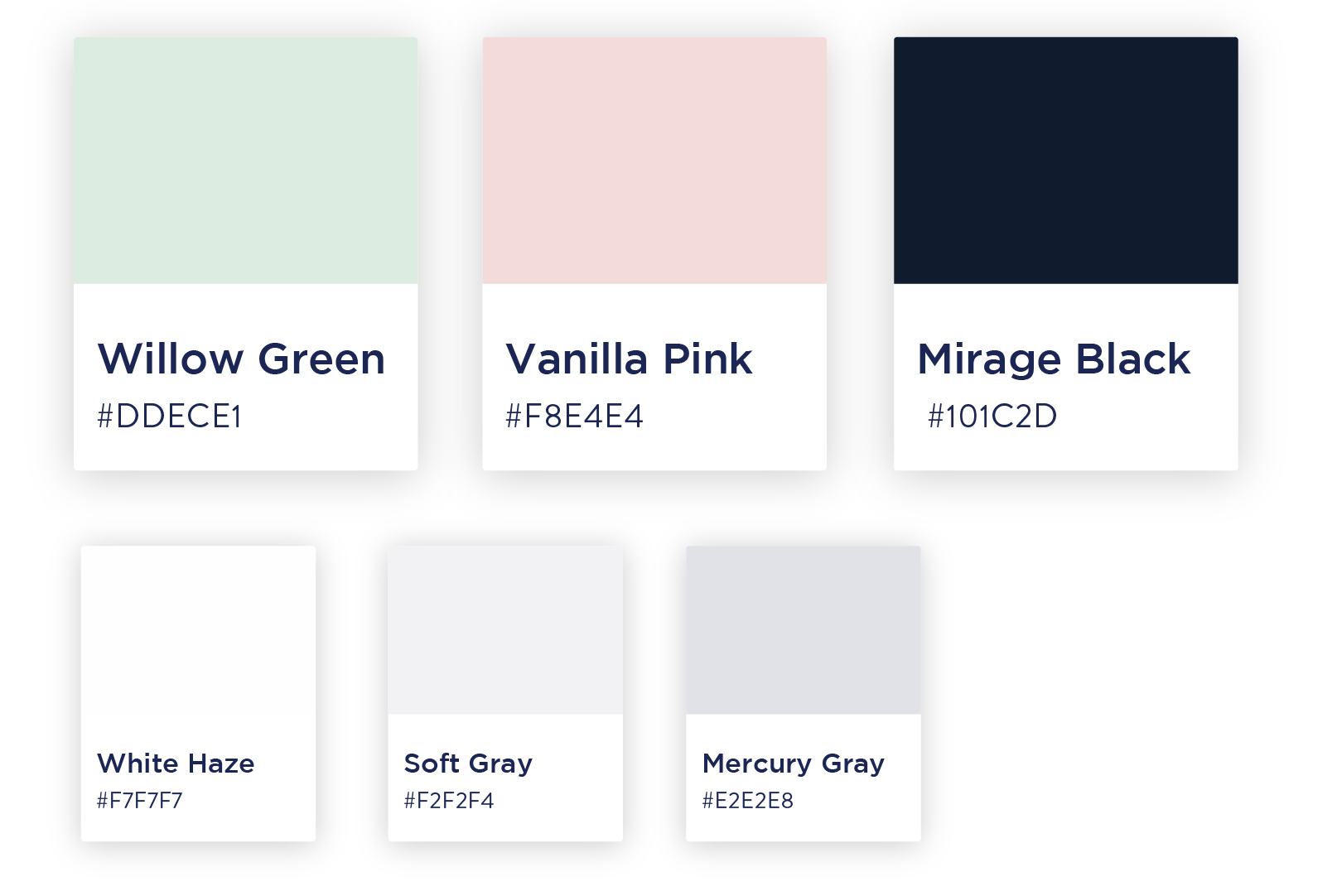 color palette for beauty brand identity startup dubai